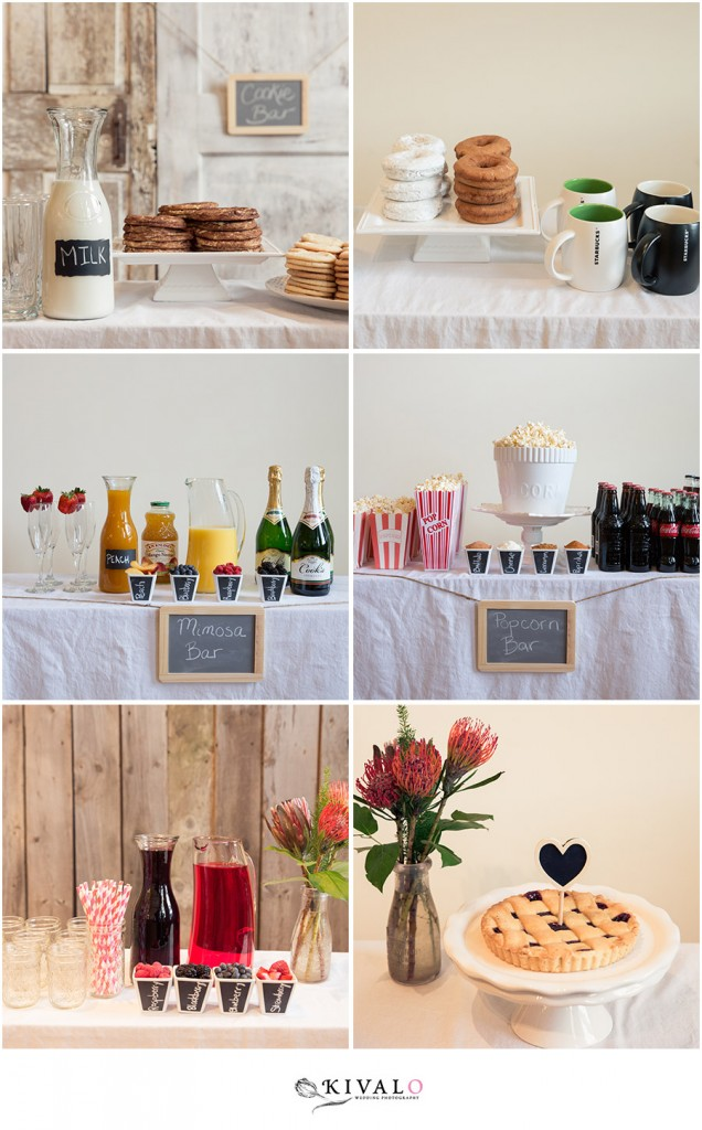 DIY wedding mimosa bar
