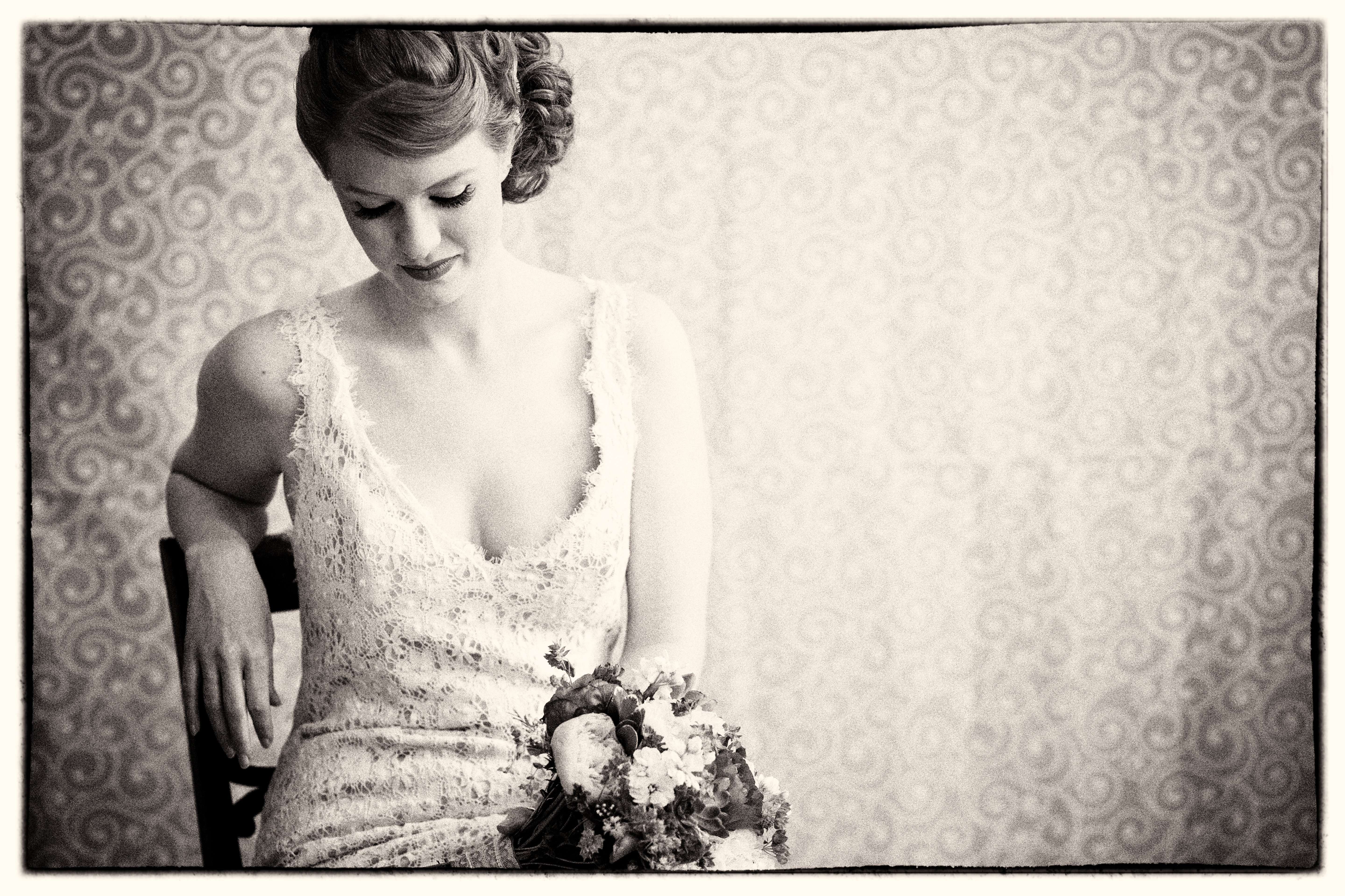 Wedding photography vintage  Vintage Brides Wearing Pearls and Lace Gloves || Maine Wedding ...