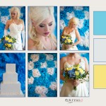 Blue, White, and Yellow Wedding Inspiration Board || Maine Wedding Photographer