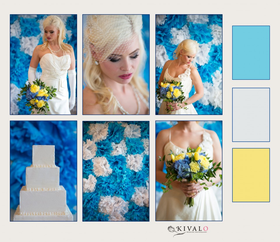 Blue White and Yellow Wedding Inspiration Board Maine Wedding