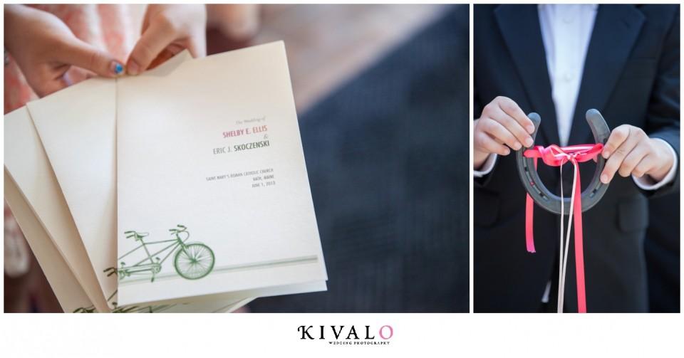 bicycle wedding programs