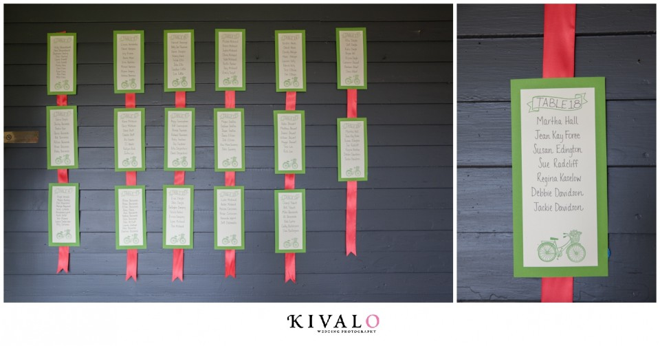 coral and green wedding colors