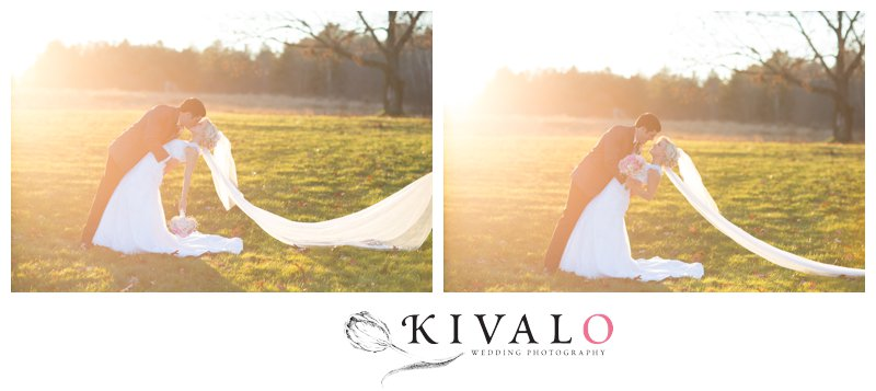dusk wedding photos