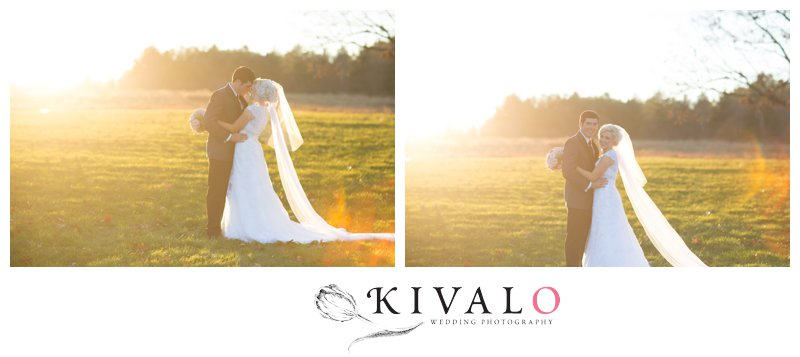 perfect time of day for wedding photos