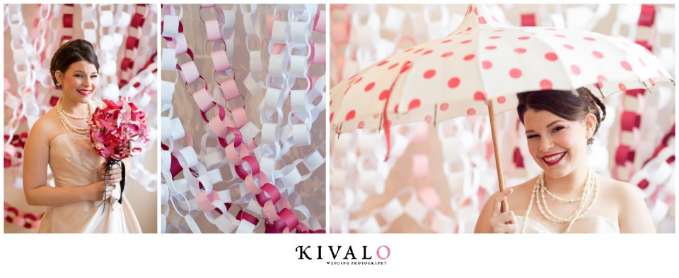 paper chain wedding background