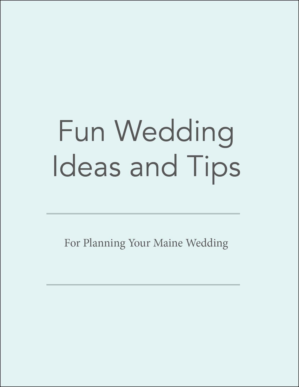 Fun Wedding Ideas and Tips