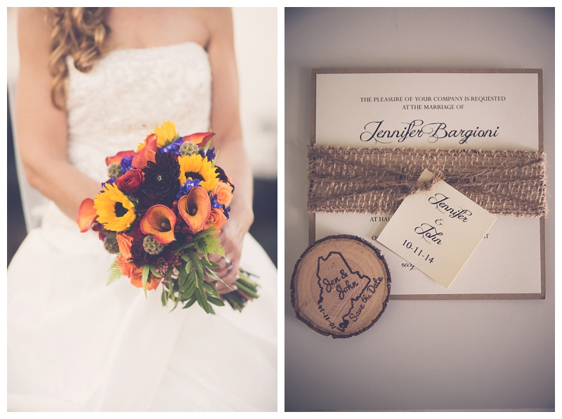 fall colored wedding