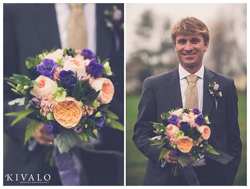 ferns in wedding bouquet