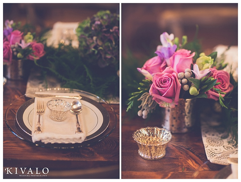 vintage wedding tablescape