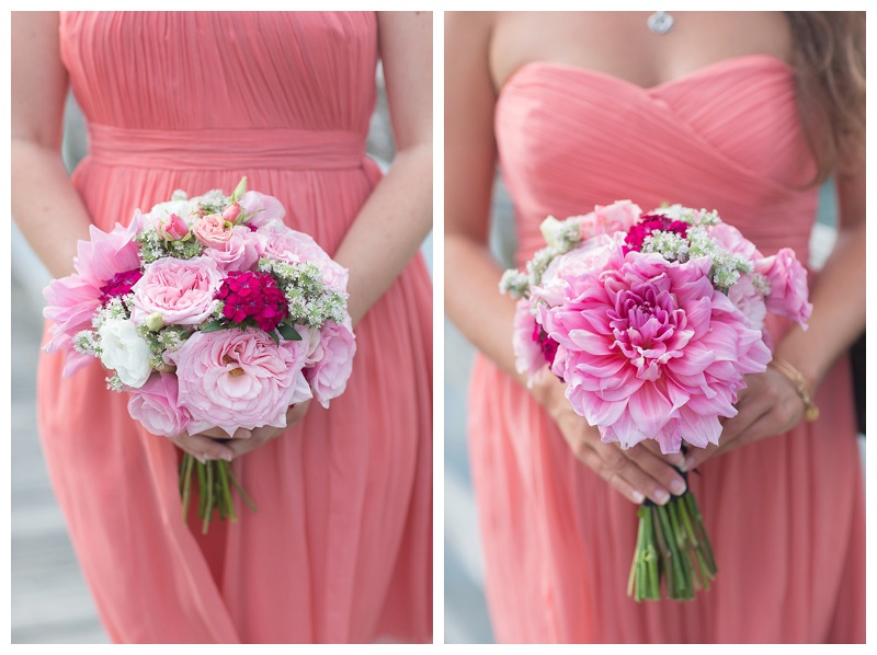 pink maine wedding florals