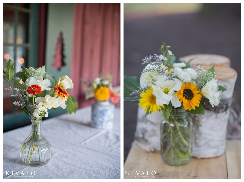 maine barn wedding flowers