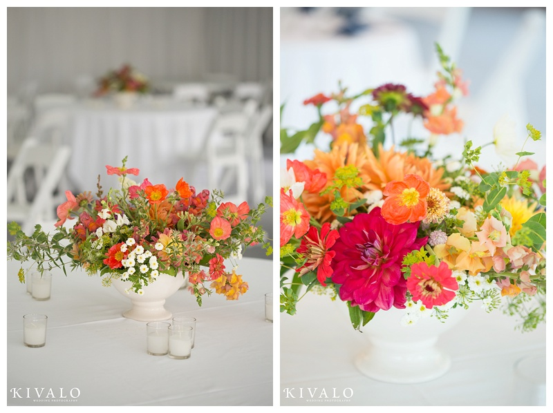 colorful rustic elegant wedding florals