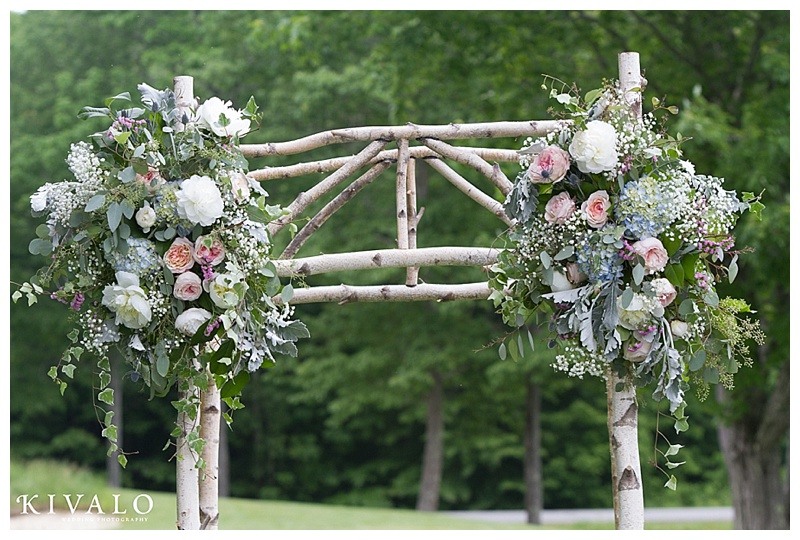 romantic birch arbor wedding