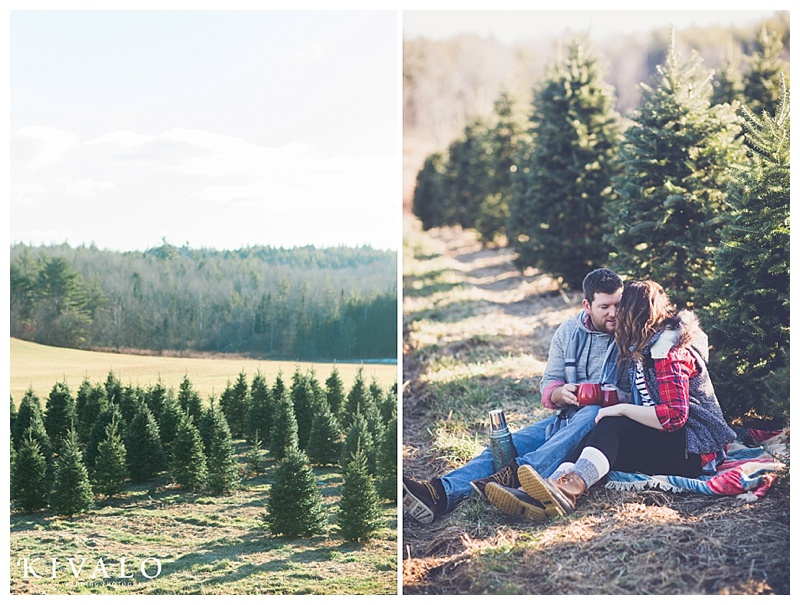 LL Bean inspired engagement session