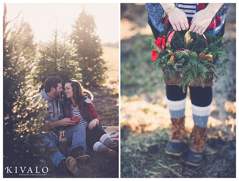 winter maine engagement session ideas