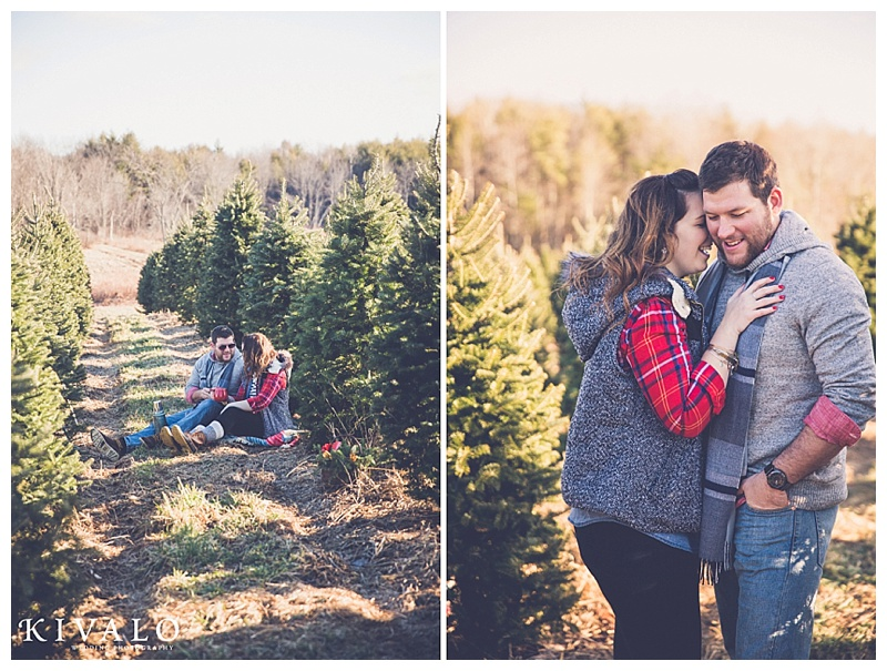 christmas inspired engagement session