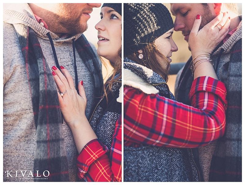 romantic winter engagement session