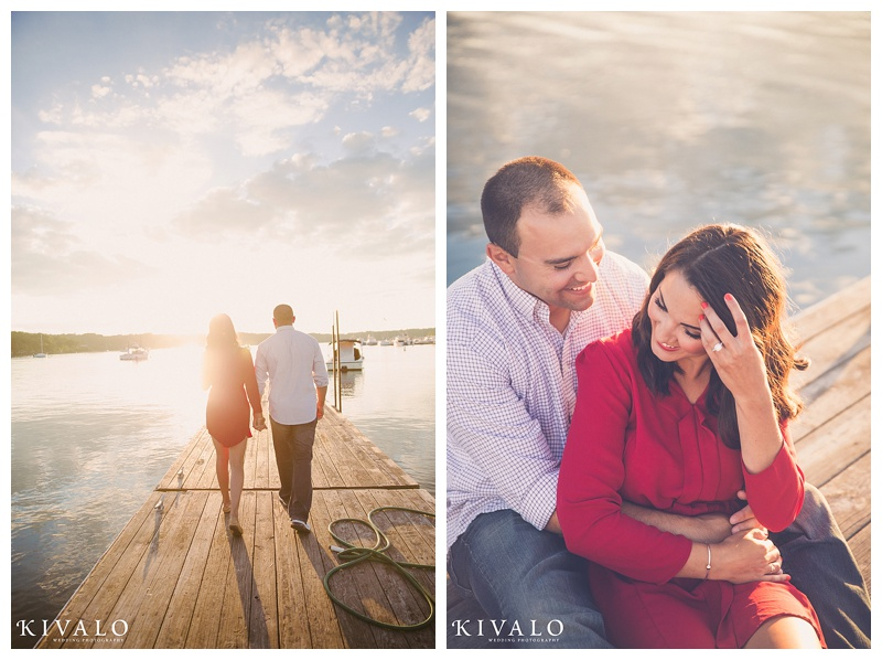 coastal maine engagement session