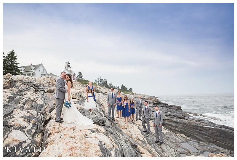 coastal maine wedding photos