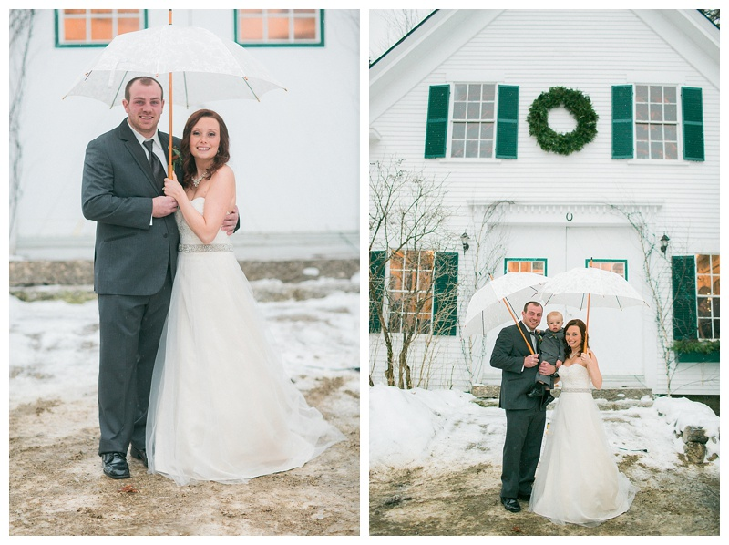 Fryeburg Maine winter Wedding
