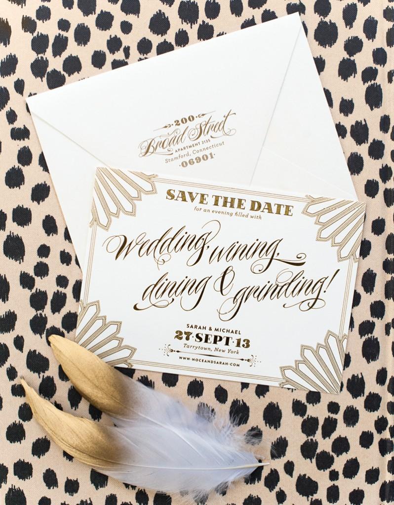 Letterpress Wedding Invitations Coral Pheasant - Kivalo ...
