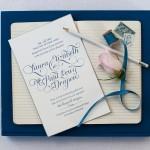 Letterpress Wedding Invitations Coral Pheasant