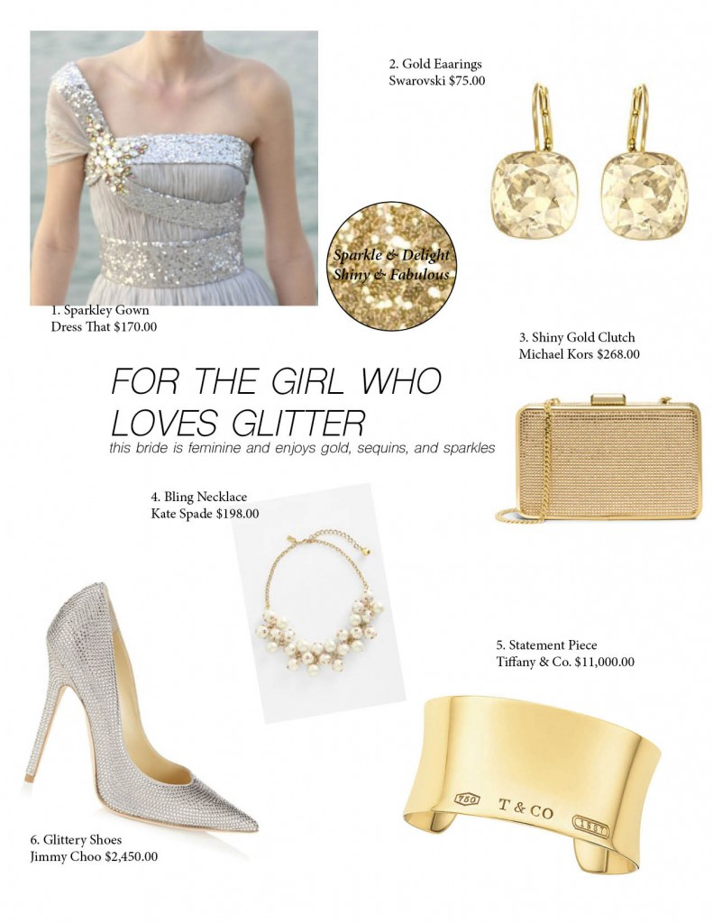 gold and silver wedding ideas