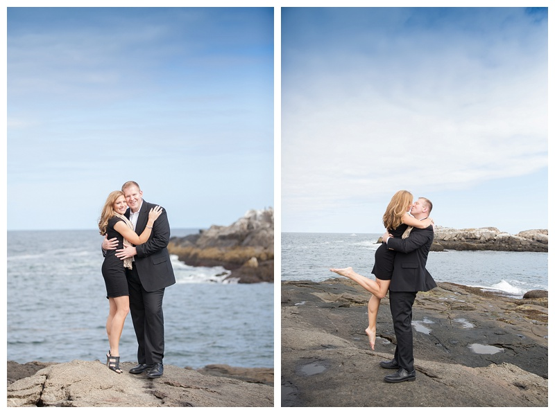 nubble light engagement pictures