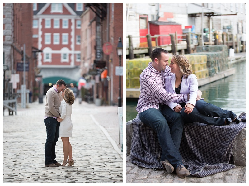 Downtown Portland Maine engagement photos