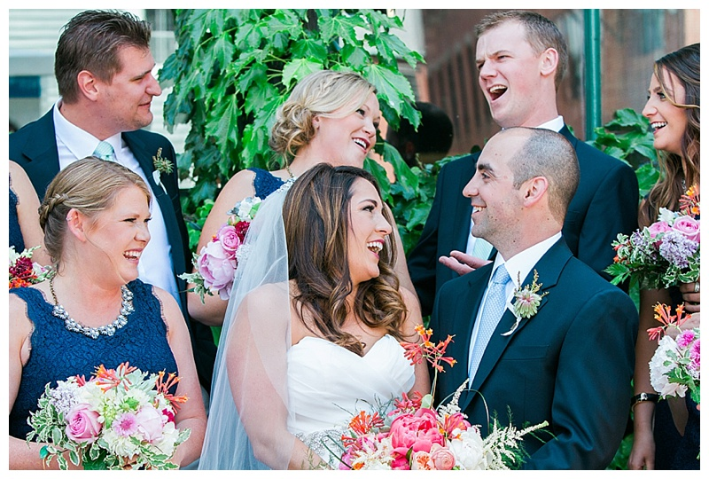 downtown portland bridal party photos