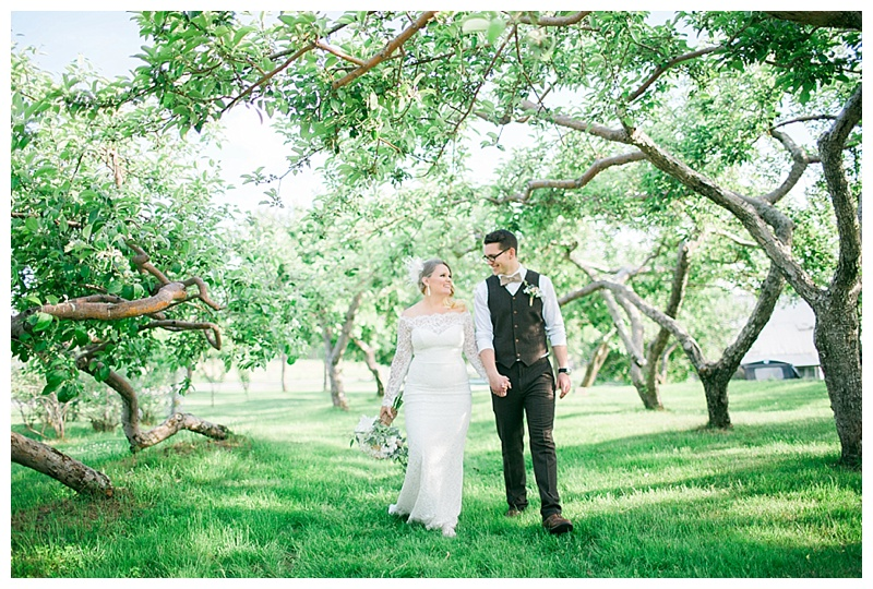 wedding photos apple orchard