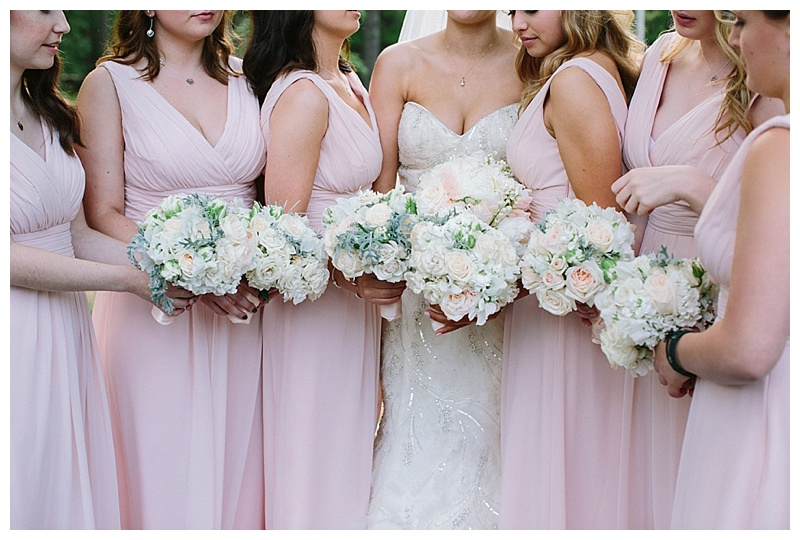 blush bridesmaid bouquets