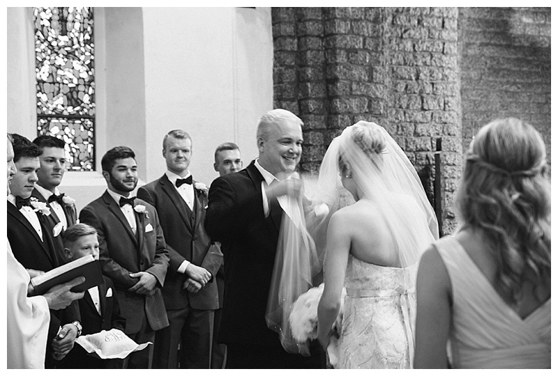 dad giving away bride