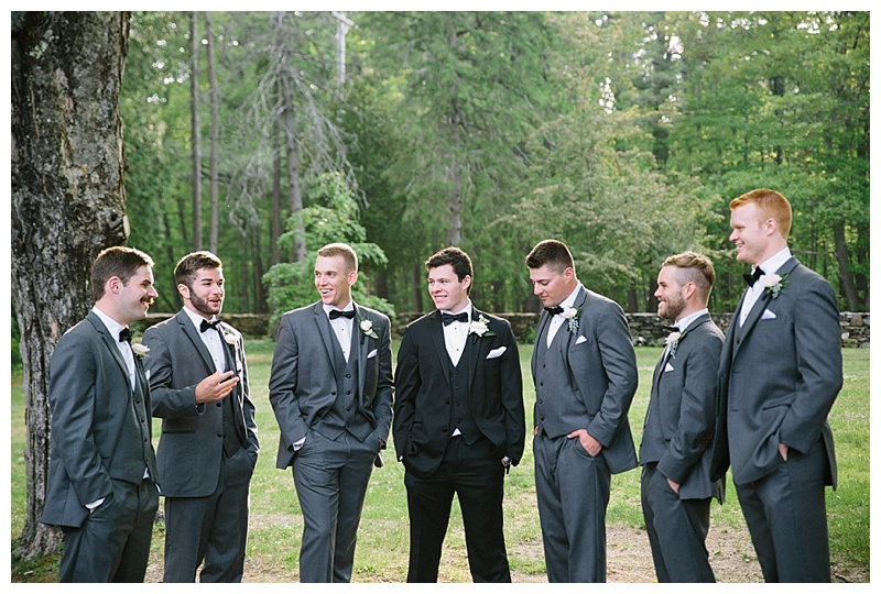 mix up the groomsmen attire allowing different textures and shades just as bridesmaids have been doing for years