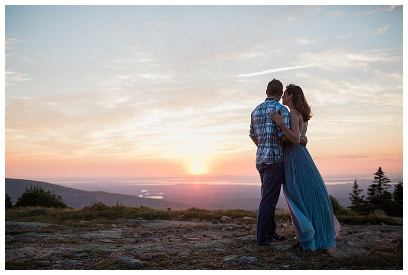 acadia engagement session