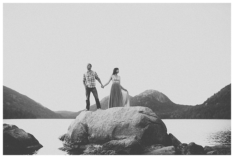 engagement photos cadillac mountain acadia