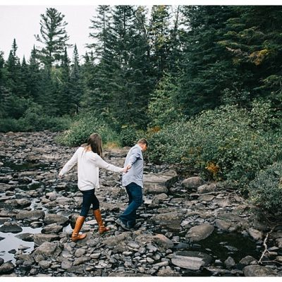 Moosehead Lake Engagement Photos