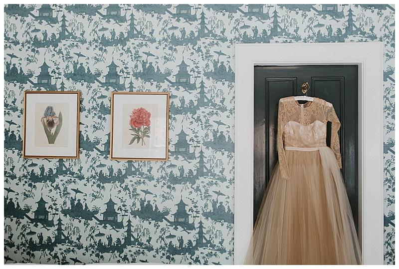 cream bridal gown