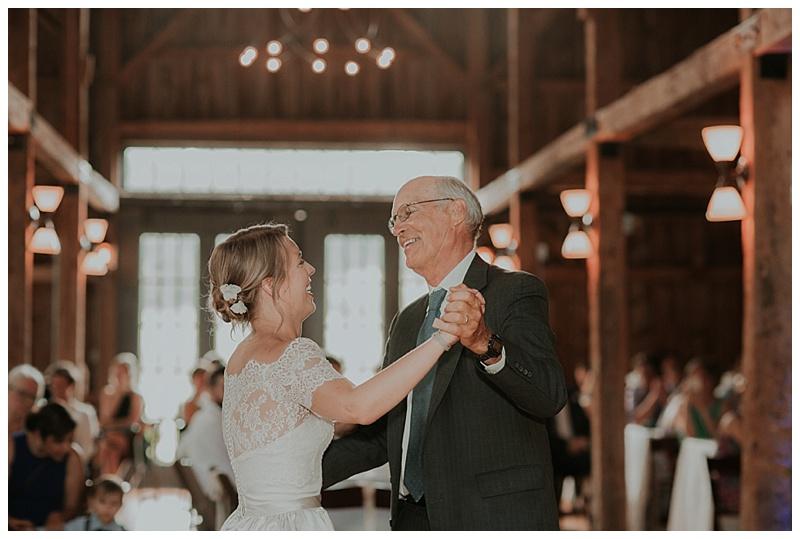 reception barn at flanagan farm wedding
