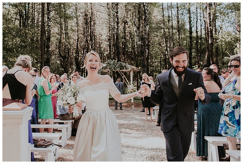 ceremony light barn at flanagan farm wedding