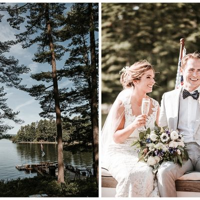 Migis Lodge || Maine Destination Wedding