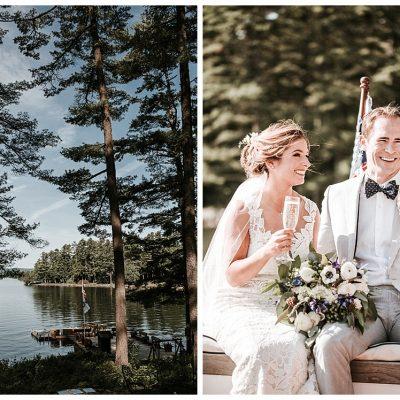 Migis Lodge || Maine Destination Wedding
