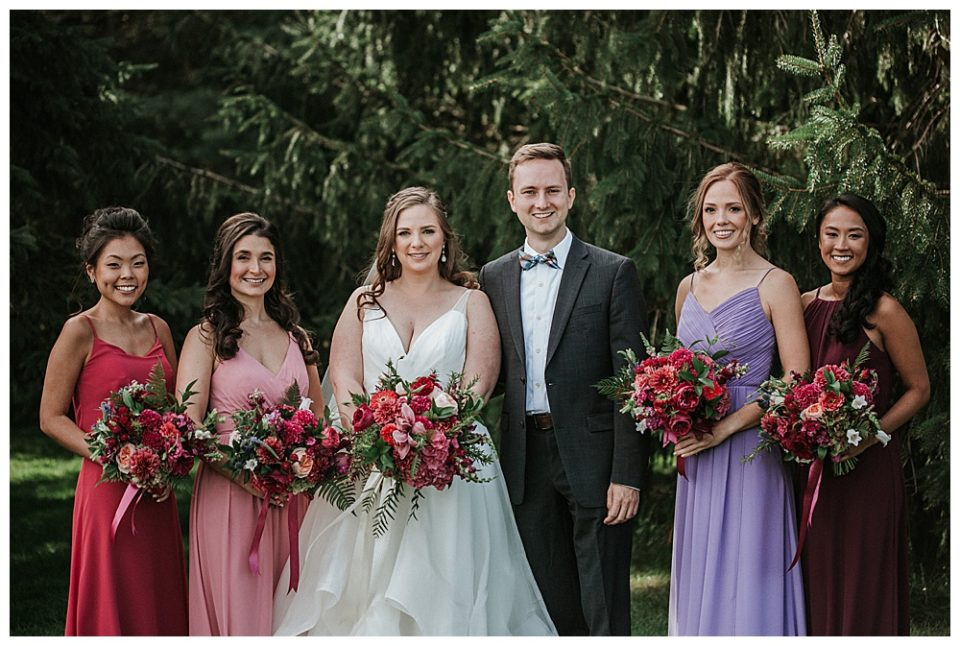having a wedding party with all of your friends no matter what sex they are