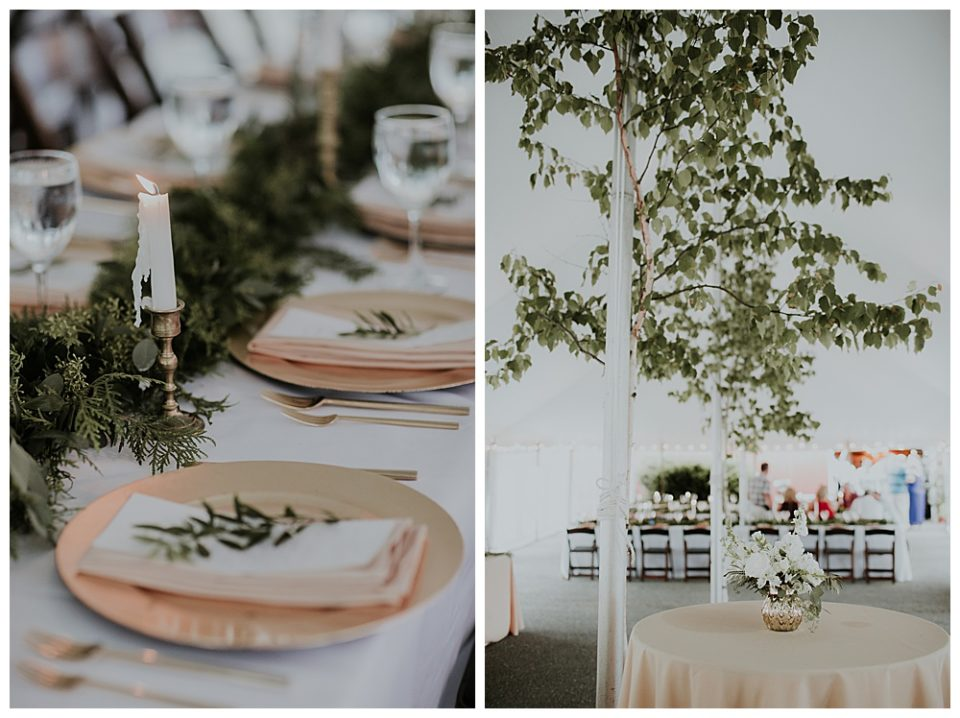 bringing the outside in using large pieces of trees and plants to decorate your 2019 wedding