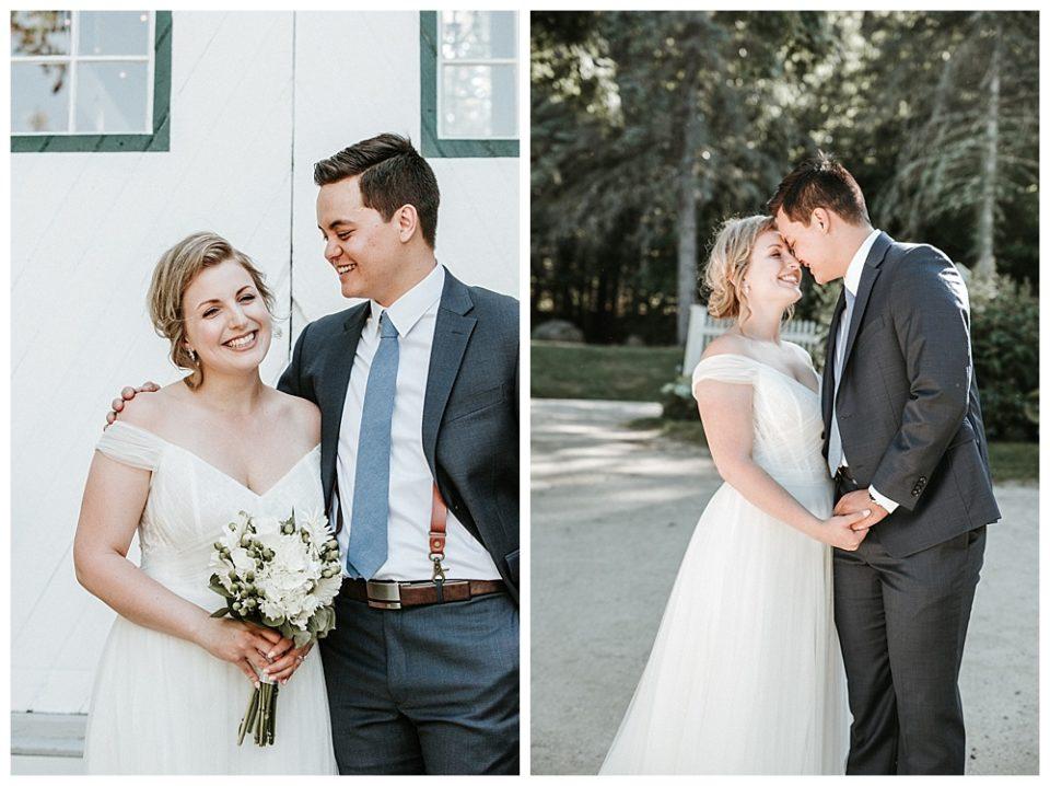 hardy farm wedding portrait
