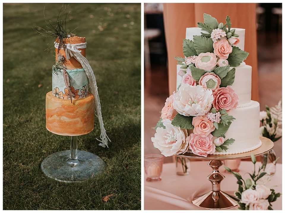 Statement cakes are a 2019 wedding trend